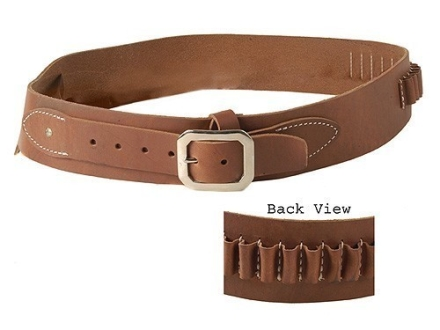 Oklahoma Leather Cowboy Drop-Loop Cartridge Belt 44, 45 Caliber Leather Brown Large