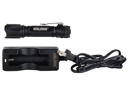 Brite Strike BDRC-200-HLS Flashlight LED with Rechargeable Battery Aluminum Black