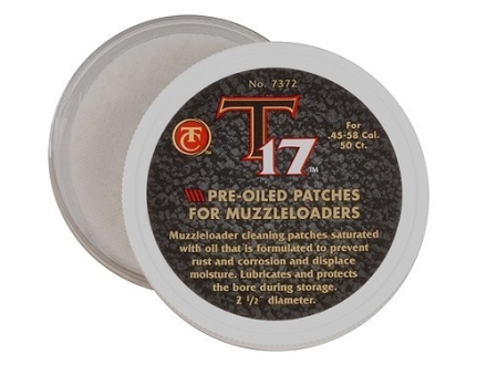 Thompson Center T-17 Oiled Patches Pack of 50