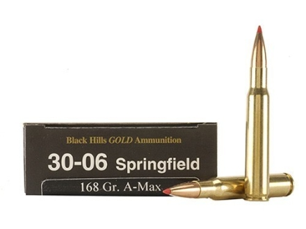 Black Hills Gold Ammunition 30-06 Springfield 168 Grain Hornady A-Max Box of 20