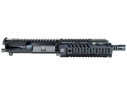 "Adams Arms AR-15 Pistol A3 PDW Tactical Elite Gas Piston Upper Assembly 5.56x45mm NATO 1 in 7"" Twist 7.5"" Barrel Melonite Finish with 7"" Extended Free Float Quad Rail Handguard, Flash Hider"