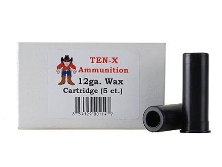 "Ten-X Cowboy Ammunition Wax Carrier 12 Gauge 2-3/4"" Box of 5"