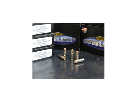 Doubletap Ammunition 9x25mm Dillon 125 Grain Bonded Defense Jacketed Hollow Point Box of 20