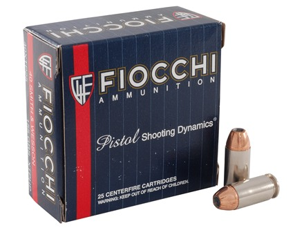Fiocchi Extrema Ammunition 40 S&W 155 Grain Hornady XTP Jacketed Hollow Point Box of 25