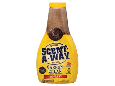 Hunter's Specialties Scent-A-Way Carbon Clean Scent Elimination Laundry Detergent Liquid 24 oz