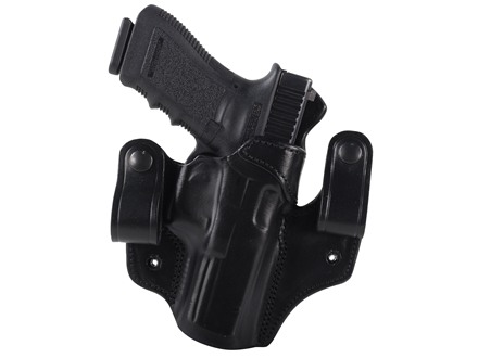 DeSantis Mad Max Tuckable Inside the Waistband Holster Right Hand Glock 17, 19, 22, 23, 31 Leather Black