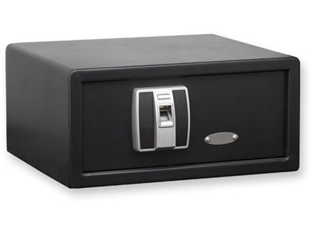 "Bulldog Biometeric Pistol Vault 10-1/2"" x 16-1/2"" x  8"" with Fingerprint Lock Steel Black"
