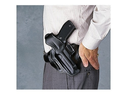 Galco COP 3 Slot Holster Left Hand Ruger SR9, P345, P85, P89, P90, P95 Leather Black