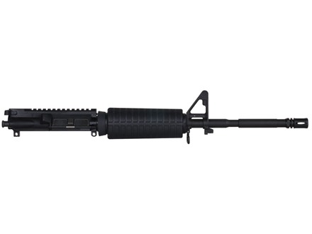 "Olympic Arms AR-15 A3 Flat-Top Upper Assembly 223 Remington 1 in 9"" Twist 16"" Barrel Stainless Steel Black with M4 Handguard, A2 Front Sight, Flash Hider"