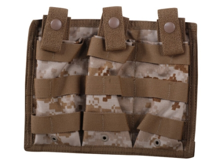 Spec.-Ops. X-3 MOLLE Compatible Triple Magazine Shingle AR-15 Nylon Desert Digital