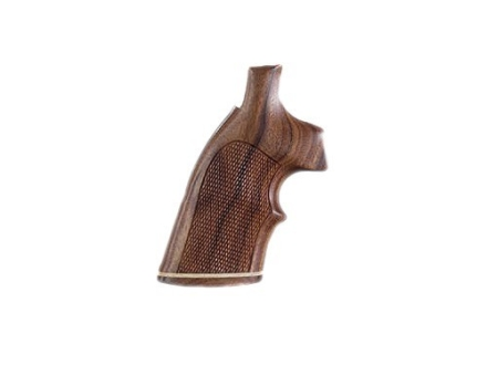 Hogue Fancy Hardwood Grips with Accent Stripe and Top Finger Groove S&W K, L-Frame Square Butt Checkered Pau Ferro