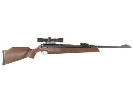 RWS 54 Magnum Air Rifle 177 Caliber Pellet Wood Stock Blue Barrel with RWS Airgun Scope 4x 32mm Matte