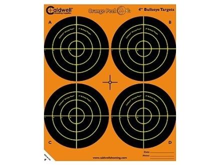 "Caldwell Orange Peel Target 4"" Self-Adhesive Bullseye (4 Bulls Per Sheet)"