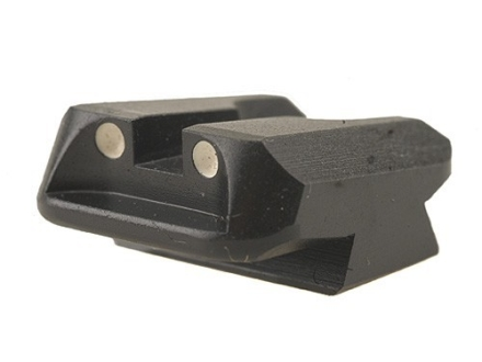 Novak Carry Rear Sight 1911 Standard Rear Cut Steel Black with White Dots