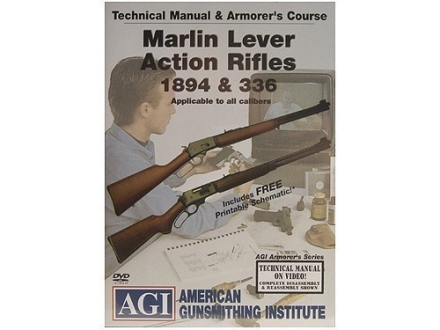 "American Gunsmithing Institute (AGI) Technical Manual & Armorer's Course Video ""Marlin Lever Action Rifles 1894 & 336"" DVD"
