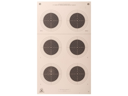 NRA Official Smallbore Rifle Targets A-51 50-Yard UIT Paper Package of 100