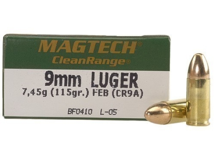 Magtech Clean Range Ammunition 9mm Luger 115 Grain Encapsulated