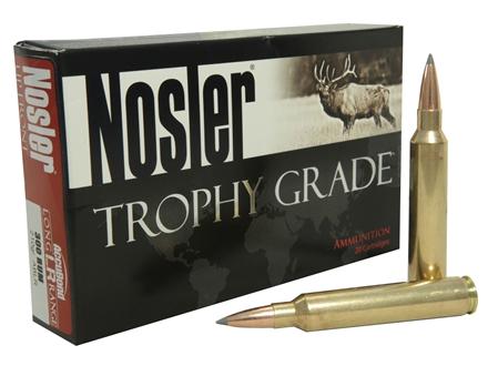 Nosler Trophy Grade Ammunition 300 Remington Ultra Magnum 210 Grain AccuBond Long Range Box of 20