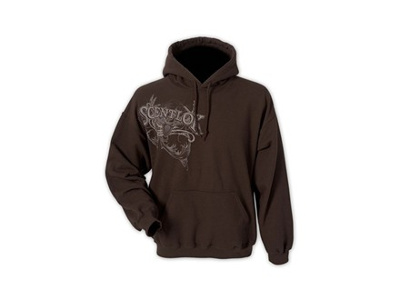 Scent-Lok Men's Vintage Bowhunter Hooded Sweatshirt Cotton and Polyester Brown Large 42-44