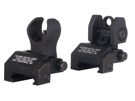 Troy Industries Micro Flip-Up Battle Sight Set HK-Style Front & Standard Rear AR-15 Black