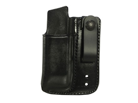 Galco Inside the Waistband Single Magazine Pouch 40 S&W, 9mm Double Stack Metal Magazines Leather Black