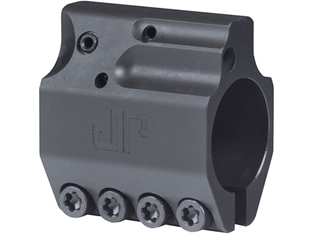 "JP Enterprises Adjustable Low Profile Gas Block Standard Barrel .750"" Inside Diameter Stainless Steel Black"