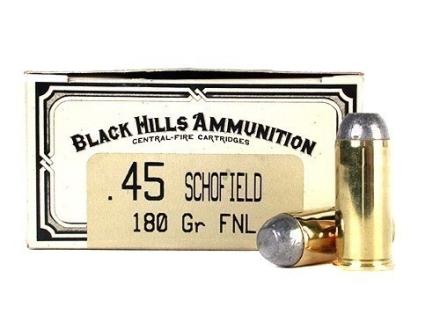 Black Hills Cowboy Action Ammunition 45 S&W Schofield 180 Grain Lead Flat Point Box of 50