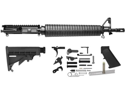 "Del-Ton Dissipator Carbine Kit AR-15 5.56x45mm NATO 1 in 9"" Twist 16"" Barrel Upper Assembly, Lower Parts Kit, M4 Collapsible Buttstock"