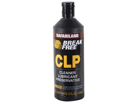 Break-Free CLP (Bore Cleaning Solvent, Lubricant, Rust Preventative) 4 oz Liquid