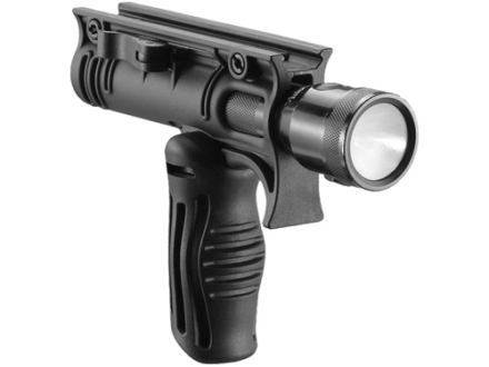 "Mako Folding Vertical Forend Grip and 1-1/8"" Light Mount Quick Release AR-15 Polymer Black"