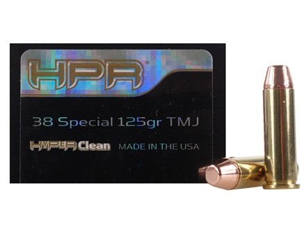 HPR HyperClean Ammunition 38 Special 125 Grain Total Metal Jacket Box of 50