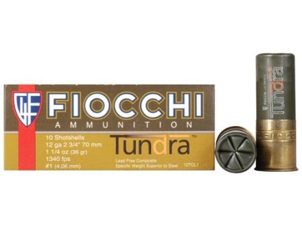 "Fiocchi Tundra Waterfowl Ammunition 12 Gauge 2-3/4"" 1-1/4 oz #1 Non-Toxic Shot Box of 10"