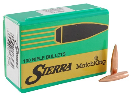 Sierra MatchKing Bullets 264 Caliber, 6.5mm (264 Diameter) 123 Grain Jacketed Hollow Point Boat Tail
