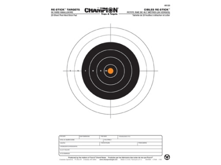 "Champion Re-Stick 50 Yard Smallbore Self-Adhesive Target 8.5"" x 11"" Paper Pack of 25"