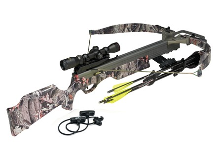 Excalibur Exocet 200 Crossbow Package with Shadow-Zone Illuminated Scope Realtree Hardwoods Camo