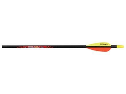 "Beman ICS Hunter Junior Carbon Arrow 3"" Vanes Black Pack of 12"
