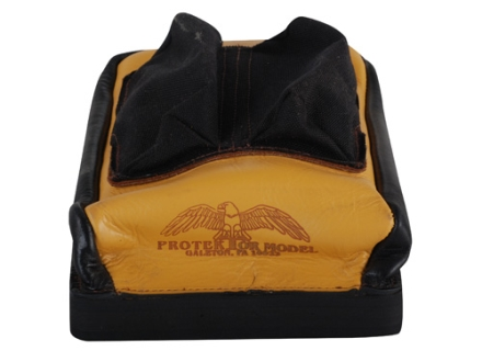Protektor Custom Bumble Bee Dr Bunny Ear Rear Shooting Rest Bag Cordura and Leather Tan Unfilled