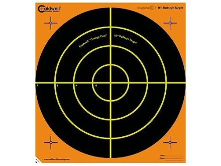 """Caldwell Orange Peel Targets 16"""" Self-Adhesive Bullseye Package of 5"""
