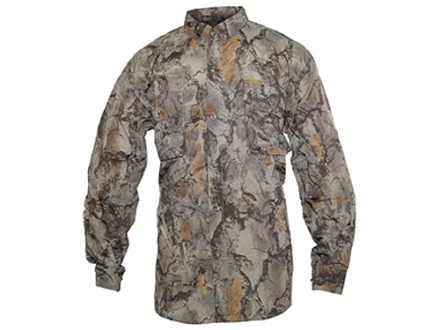 Natural Gear Men's Vented Lightweight Shirt Long Sleeve Cotton/Poly Blend