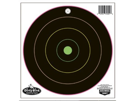 "Birchwood Casey Dirty Bird Multi-Color 8"" Bullseye Target Package of 20"