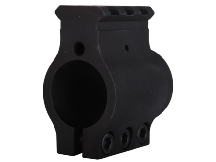 "Sadlak Clamp On Gas Block Single Picatinny Rail High AR-15, LR-308 .936"" Inside Diameter Aluminum Matte"