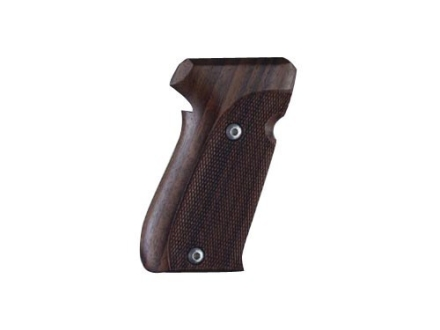 Hogue Fancy Hardwood Grips Sig Sauer P220 Side Magazine Release Checkered Rosewood