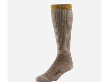 LaCrosse Men's Hunt Lightweight Over the Calf Socks Merino Wool and Synthetic Blend Light Brown Large (9-12)
