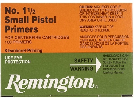Remington Small Pistol Primers #1-1/2