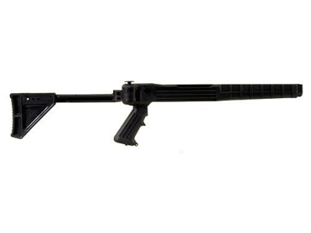 Ram-Line Pistol Grip Folding Rifle Stock Ruger 10/22 Standard Barrel Channel Synthetic Black