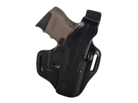 Bianchi 56 Serpent Outside the Waistband Holster Right Hand Glock 26, 27, 33 Leather Black
