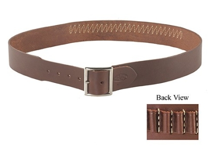 "Hunter Cartridge Belt 2-1/2"" 22 Rimfire 25 Loops Leather Antique Brown XL"