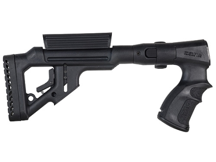 Mako Tactical Side Folding Buttstock with Adjustable Cheek Rest Remington 870 Synthetic Black