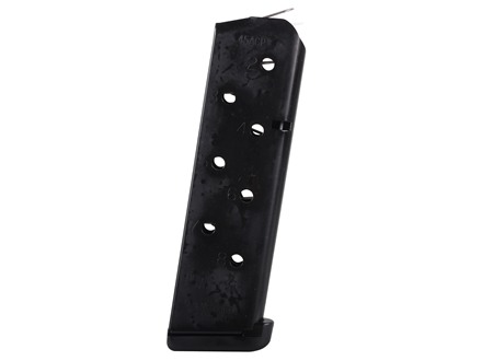 Chip McCormick Power Mag Magazine with Base Pad 1911 Government, Commander 45 ACP 8-Round Stainless Steel Black