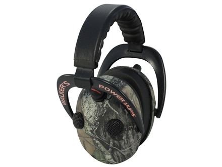 Walker's Elite Power Muff QUADS Electronic Ear Muffs (NRR 24dB) Mossy Oak Break-Up Camo